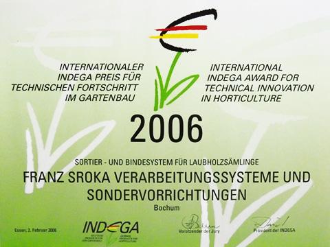 Indega Preis 2006