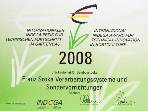 Indega Preis 2008