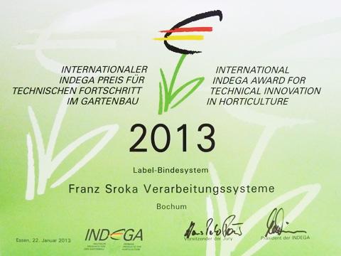 Indega Preis 2013